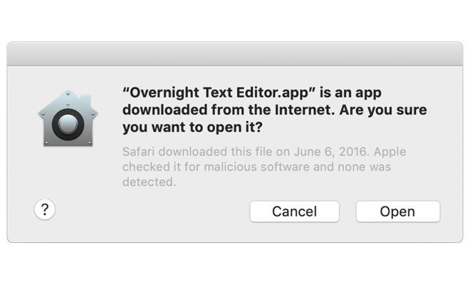 App dialog boxes