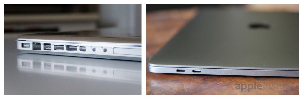 Moving to USB-C meant cleaner and thinner design, but loss of individualized ports.