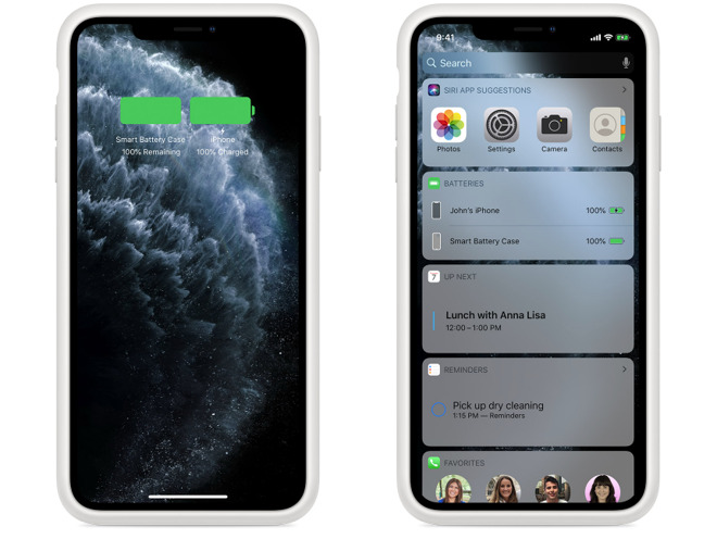 Battery capacity indicators within iOS (via Apple)