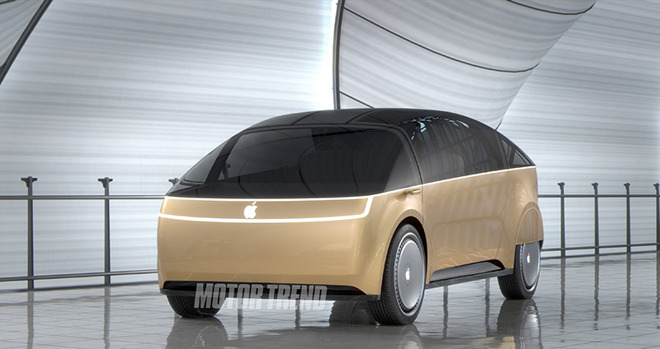 A concept image of the 'Apple Car' [by Motor Trend]