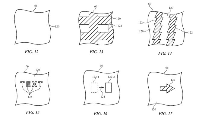 Proposed light patterns from the illuminated car seat patent application