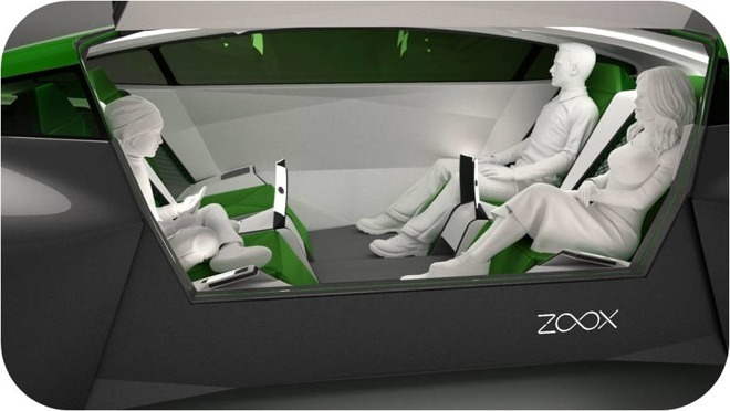 A self-driving vehicle concept by startup Zoox
