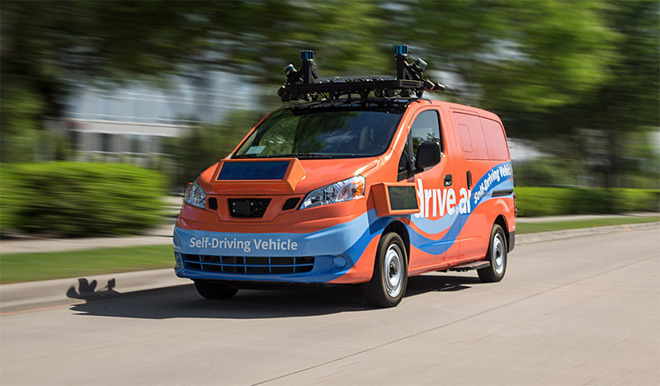 A self-driving vehicle produced by Drive.ai
