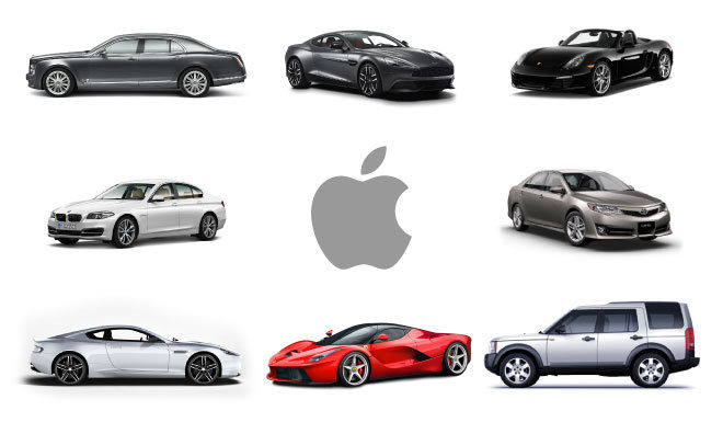 Cars driven by Apple executives