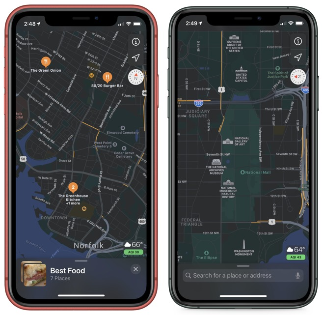Collections let you save groups of locations for trips or just reminders