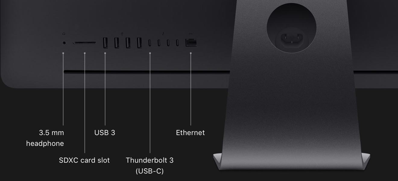 Four Thunderbolt 3 ports