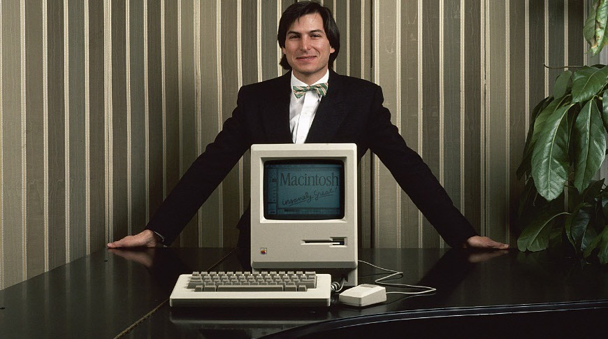 Steve Jobs and the Macintosh in 1984