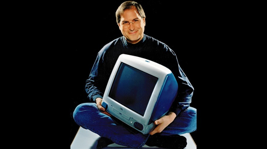 Steve Jobs and the iMac from Newsweek 1998