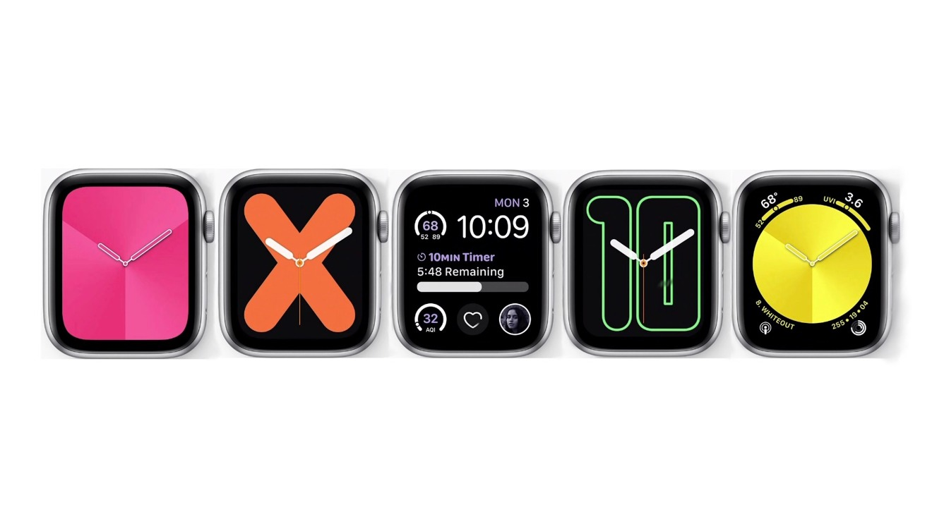 The watch faces introduced with watchOS 6