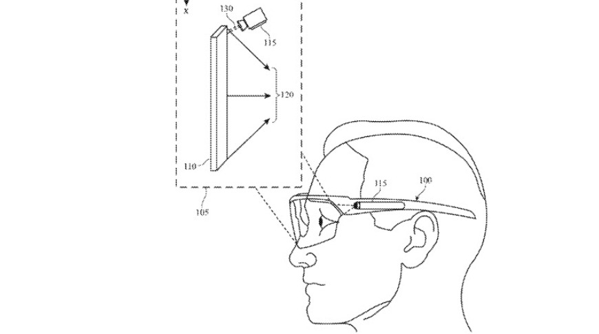 Patent drawing showing information on glasses
