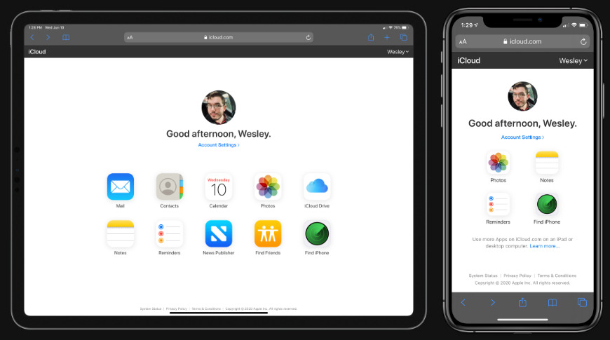 Safari on iOS and iPadOS