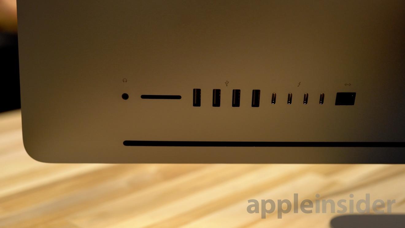 The iMac Pro ports