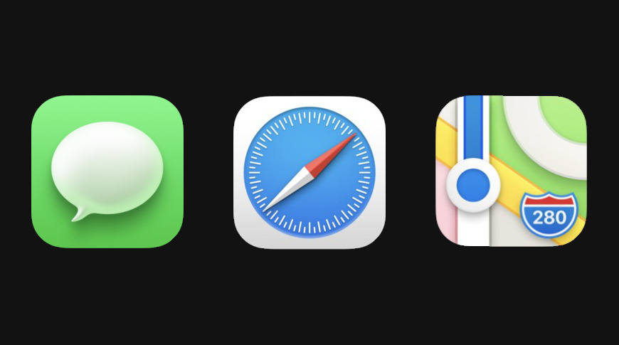 New Apple app iconography