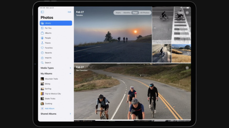 New photos experience for iPadOS similar to the Mac app