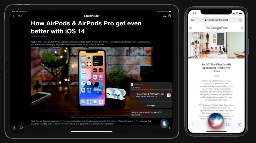 Siri gets an all new design in iOS 14 and iPadOS 14