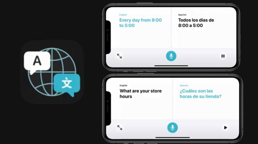 The new Translate app will translate between languages offline using Siri intelligence