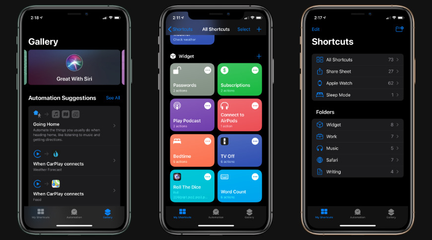 Shortcuts has new colors, icons, actions, and folders in iOS 14