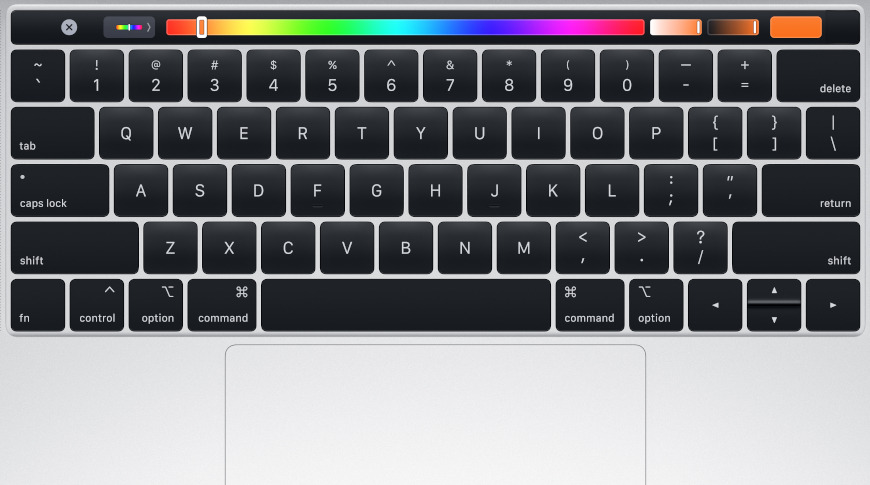 1st-generation Touch Bar design