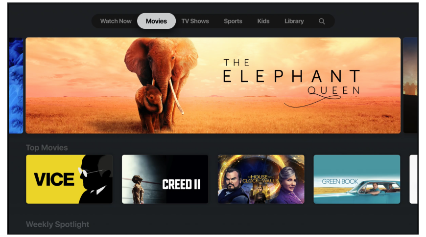 The Apple TV app is the center of tvOS