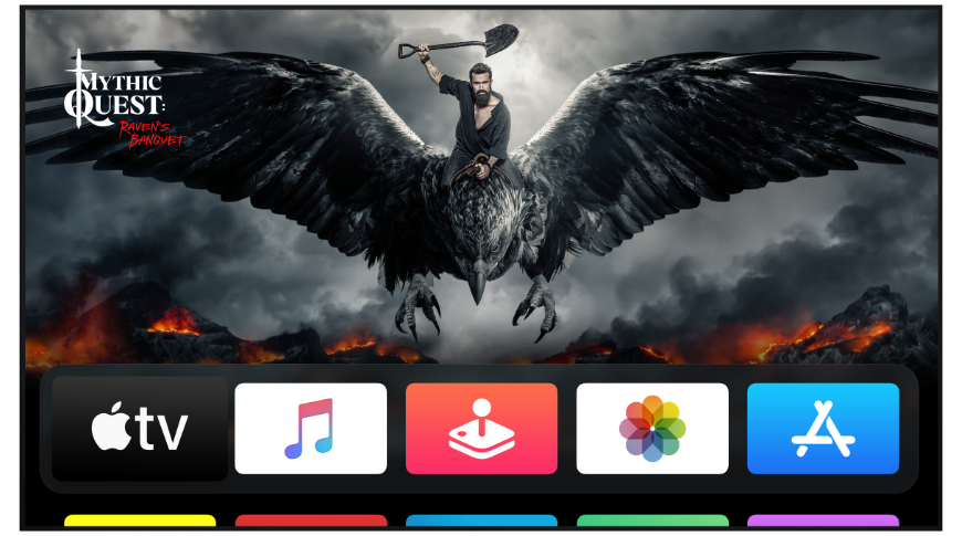 tvOS is built for big displays meant to show off content