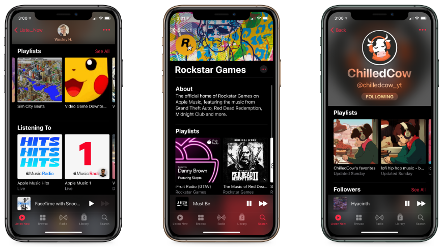Personal profiles, curator pages, and internet personalities on Apple Music
