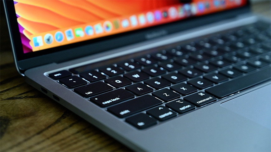 The scissor-switch keys on the 13-inch MacBook Pro (2020)