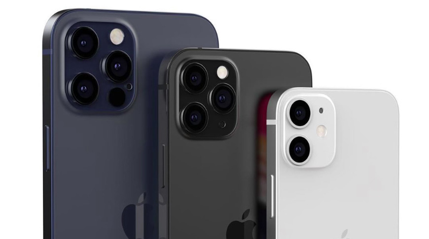 Three sizes across two classes of iPhone; image credit: Tokar