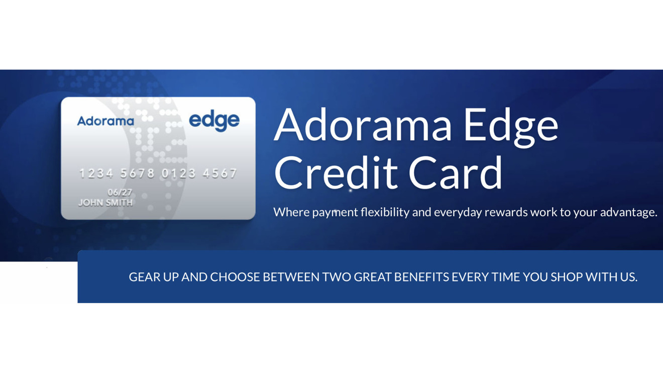 Adorama offers a credit card with some appealing incentives