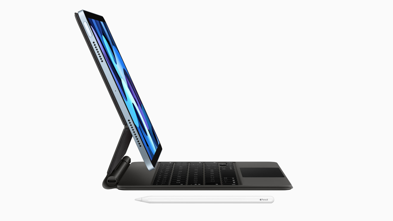 The new tablet supports Apple's Magic Keyboard