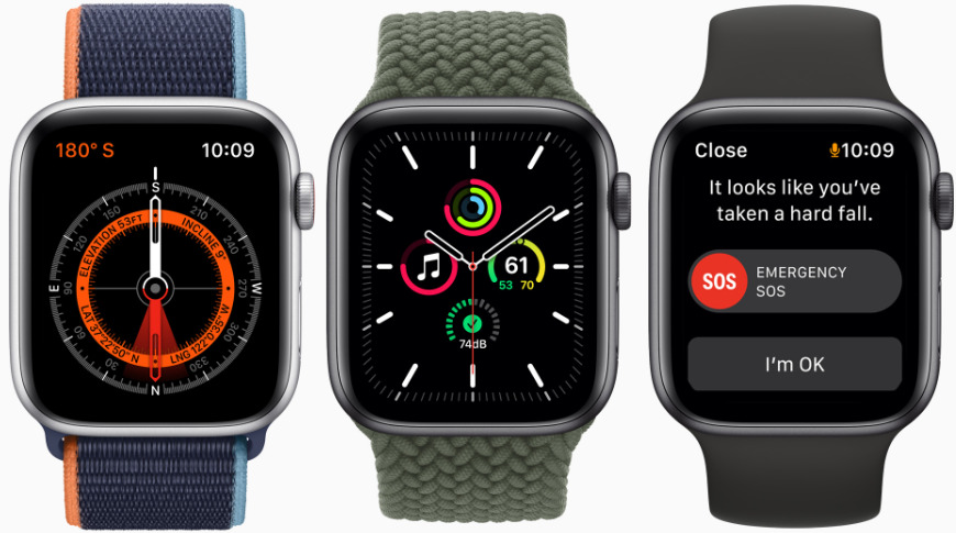 Apple Watch SE has fall detection and a compass