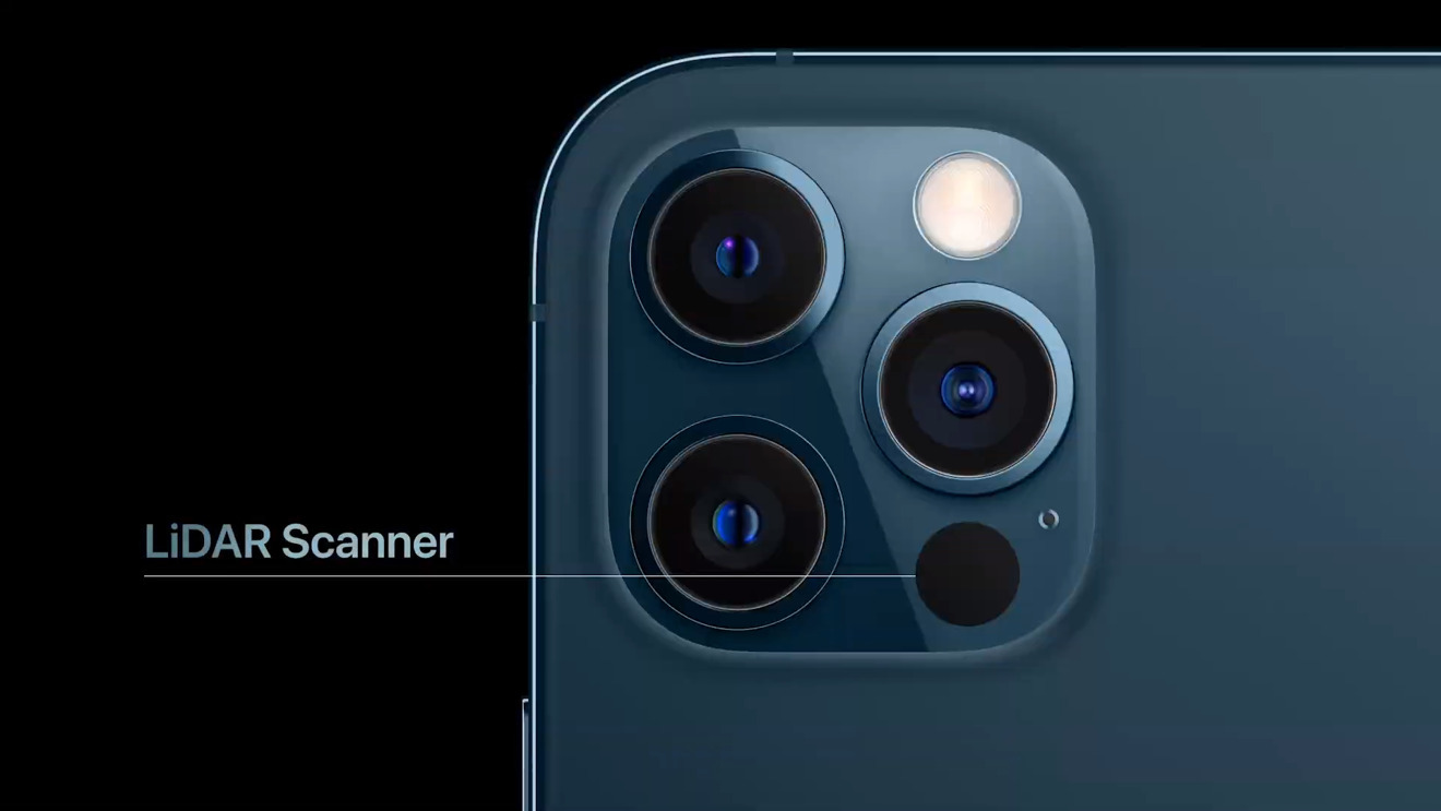 The iPhone 11 Pro has a LiDAR sensor for AR experiences