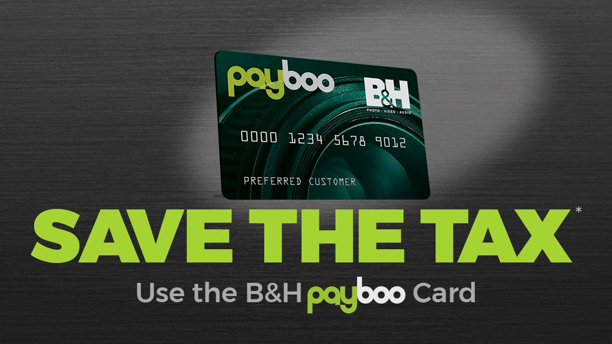 Payboo Card with Save the Tax message