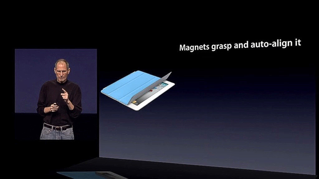 Jobs revealing the Apple Smart Cover