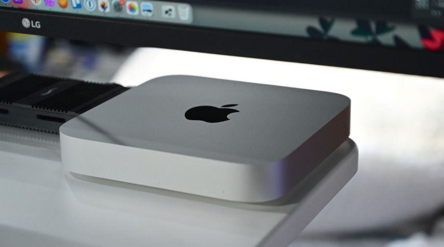 The Mac mini is made from 100% recycled aluminum and comes in silver
