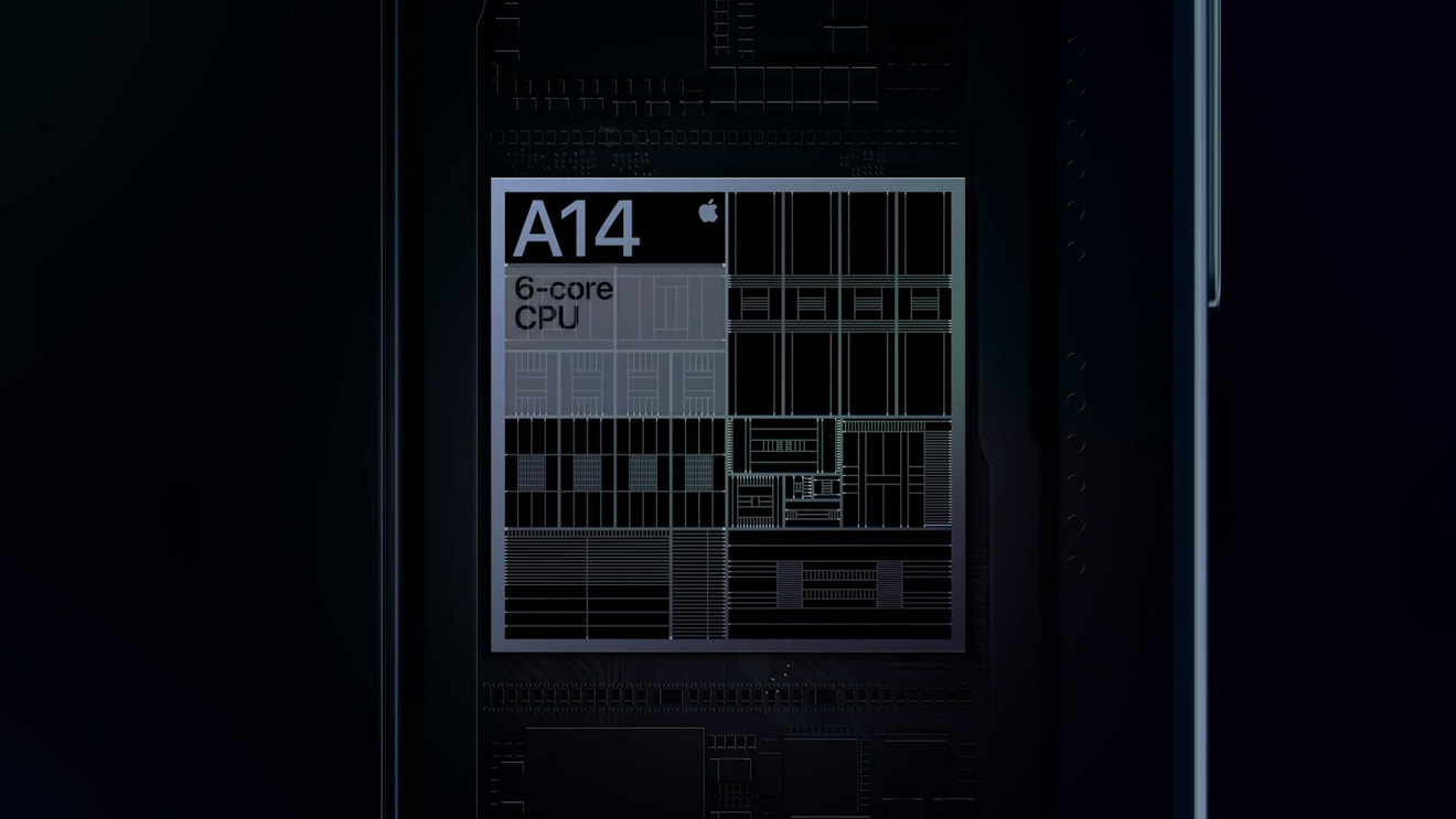 The A14 chip that powers the handset