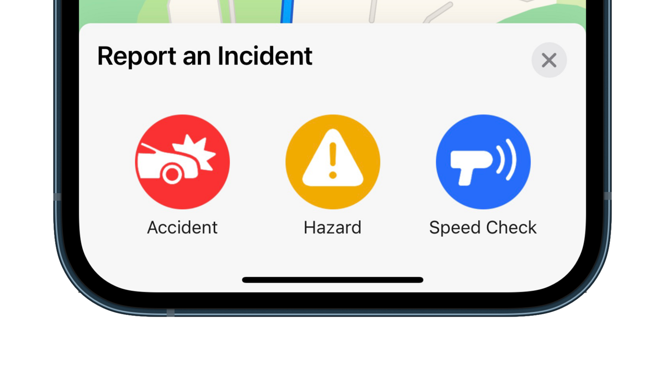 Report an incident while navigating