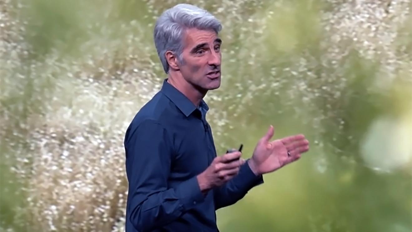 Craig Federighi presenting