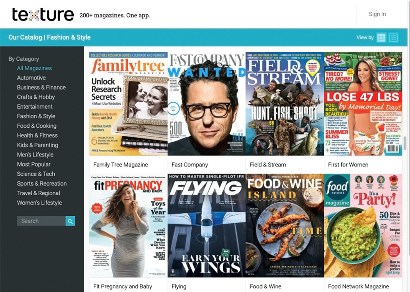 Texture, the digital magazine service Apple purchased and folded into News+