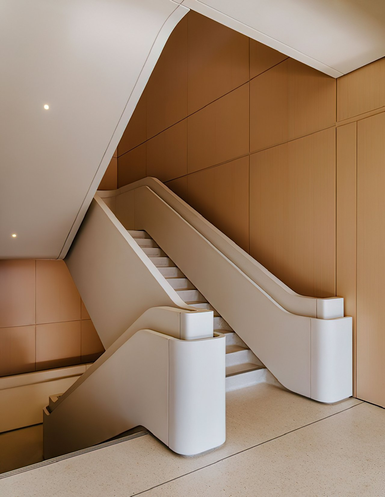 Not even the stairs could escape Jony Ive's influence