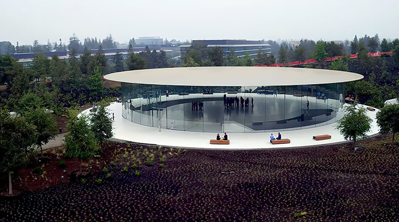 Steve Jobs Theater overlooks Apple Park