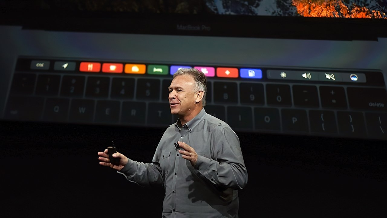 Schiller presenting during a MacBook Pro reveal