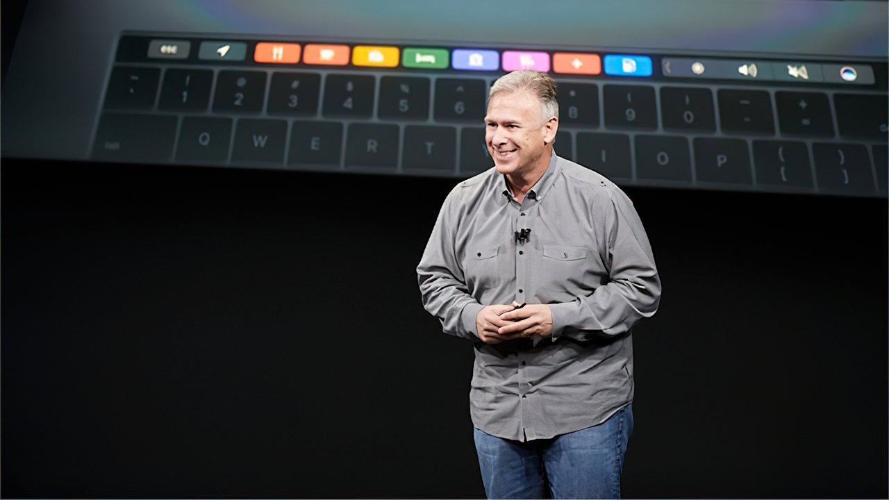 Schiller introducing the first MacBook Pro with Touch Bar