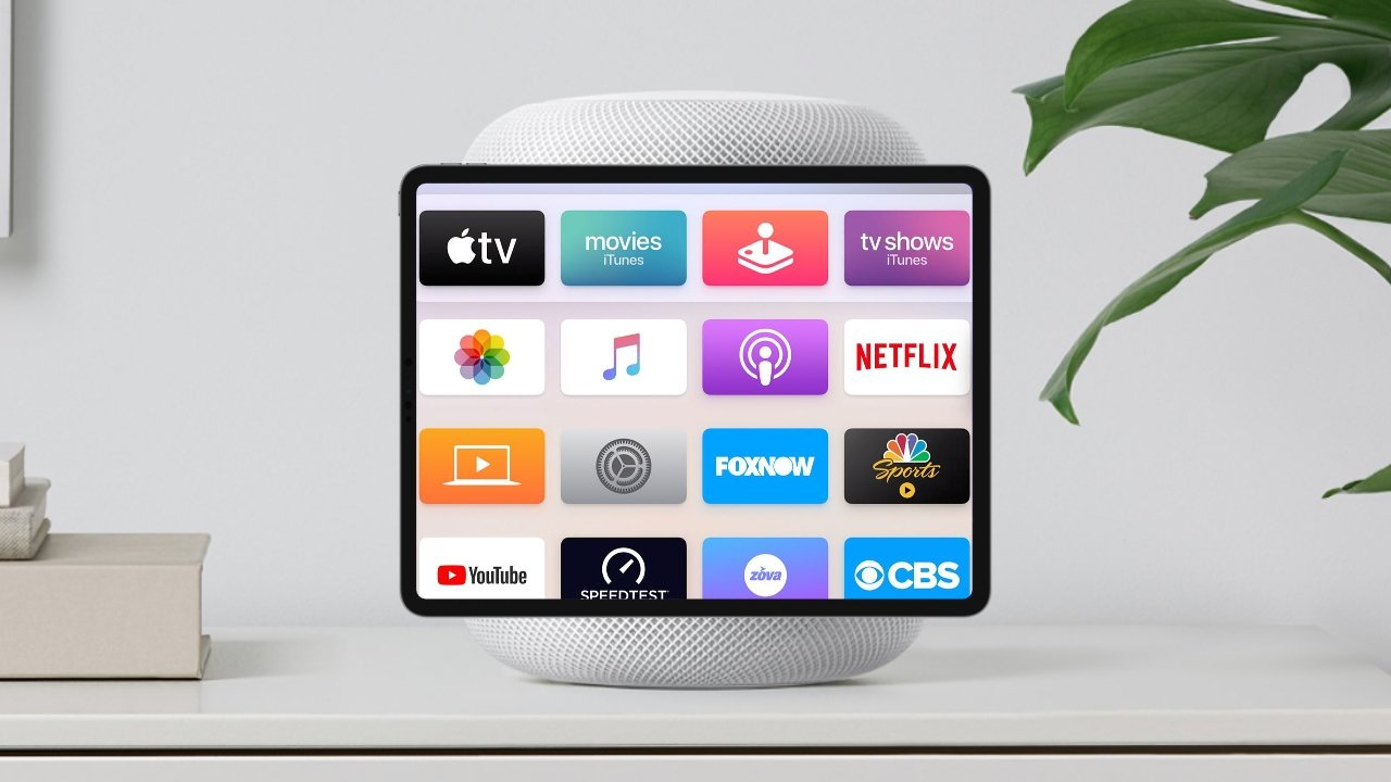 A HomePod-iPad hybrid running tvOS could be in our future.