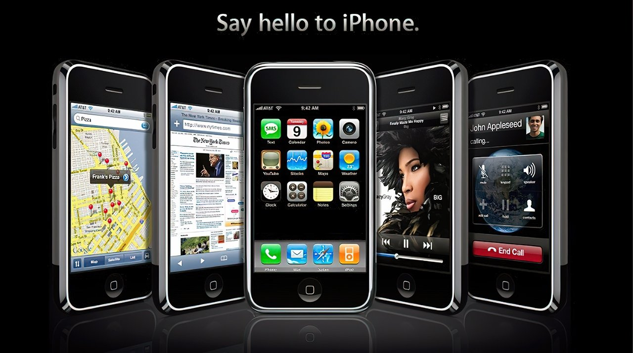 One of Apple's marketing images for the first iPhone