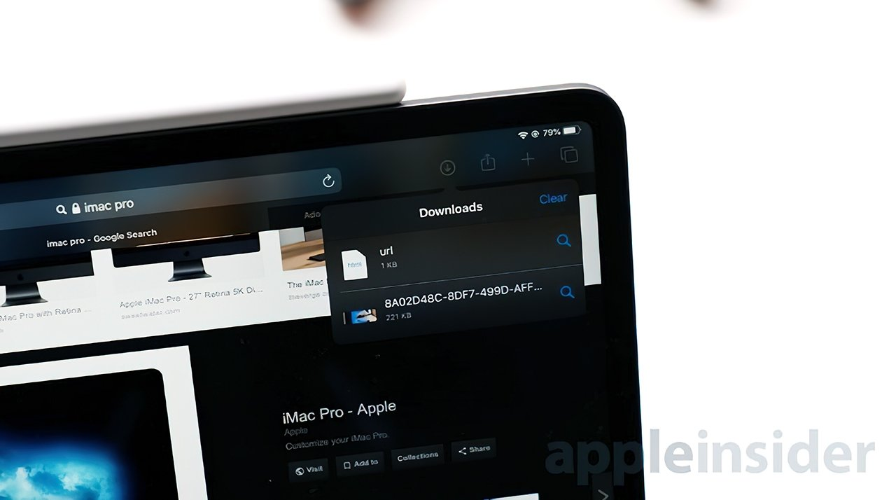 Safari lets you download files directly to the Files app using its new manager