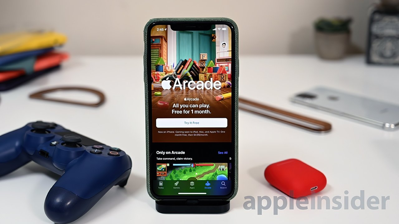 Apple Arcade games work with both touch and gamepads