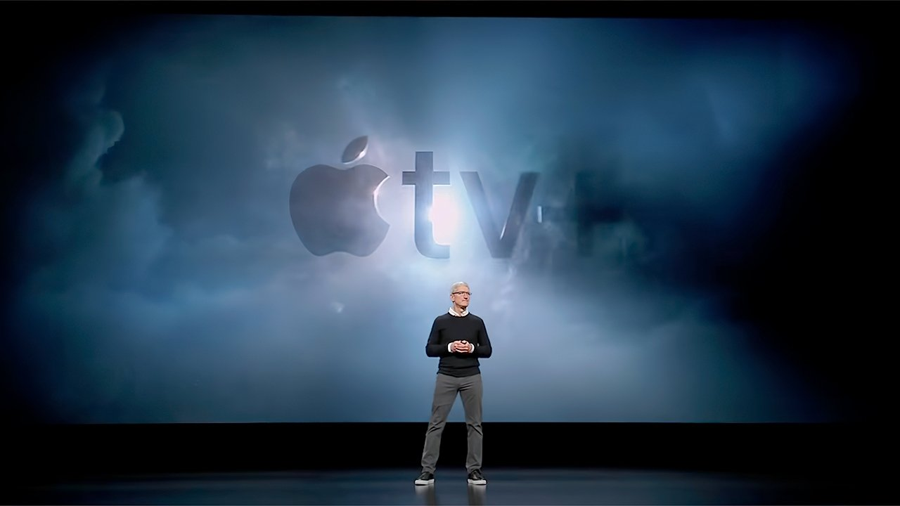 Apple CEO Tim Cook at the launch of Apple TV+