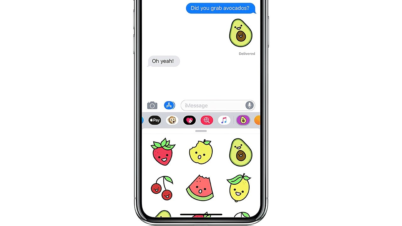 Inserting stickers from an iMessage app