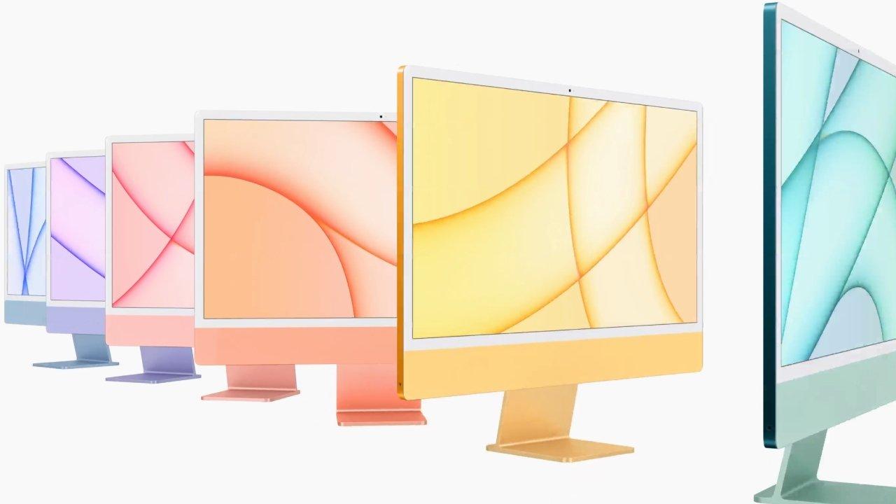 The 24-inch iMac comes in seven colors