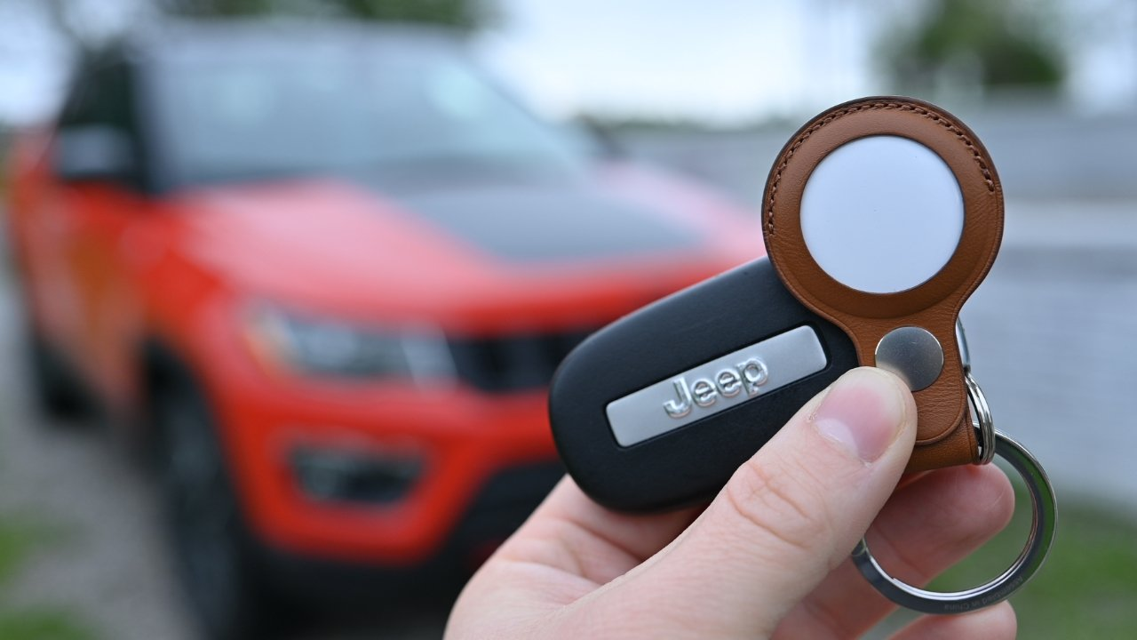 AirTag can be attached to keys using a keychain accessory